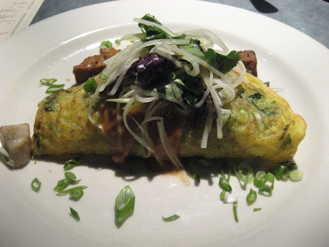 vietnamese style scallion & mung bean sprout crepe at millennium