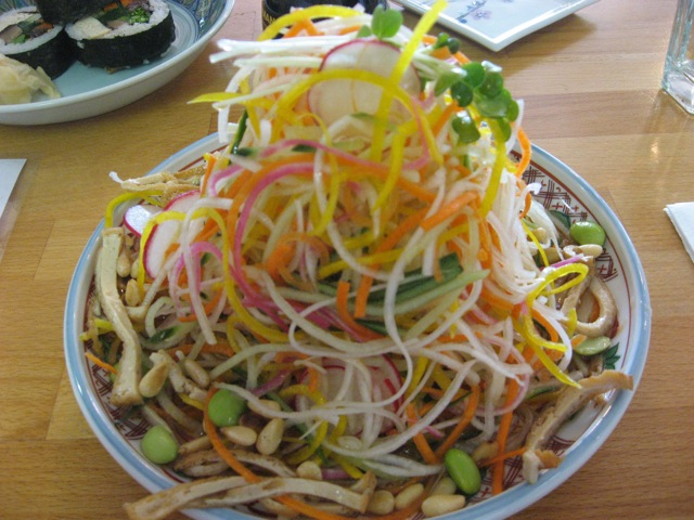 senroppon salad (shredded salad) at cha-ya, san francisco
