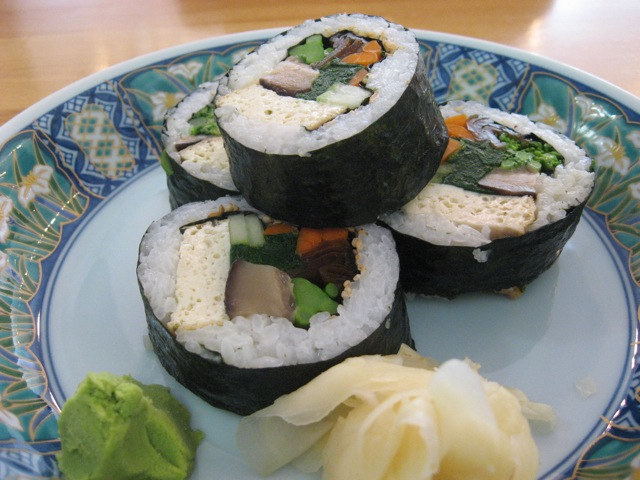 vegan roll at cha-ya
