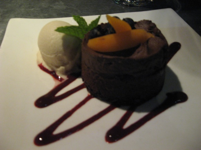 "dark chocolate ""cheese"" cake at millennium"