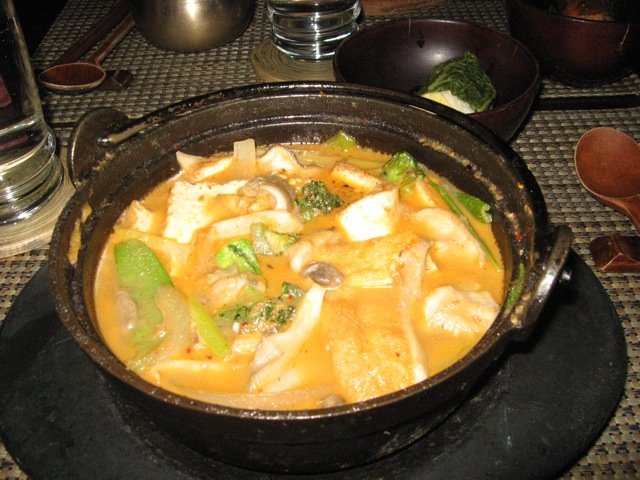 tofu clay pot in ginger sauce at HanGawi