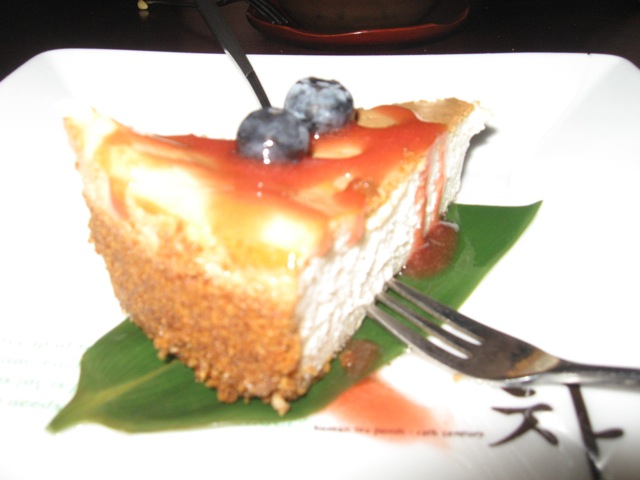 tofu cheesecake at HanGawi